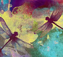 Painting Dragonflies & Orchids. by Vitta