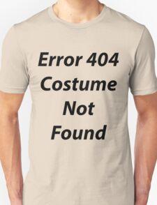Error 404 Halloween Costume Unisex T-Shirt