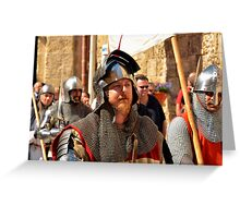 A Teutonic Knight Greeting Card