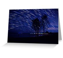 trails of light Greeting Card