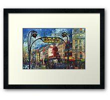 Paris Moulen Rouge Framed Print