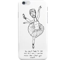 Ballerina man iPhone Case/Skin