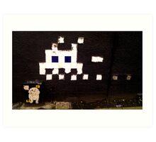 Space Invaded - Manchester street art Art Print