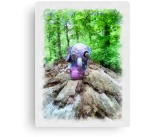 I found a Heffalump! Canvas Print