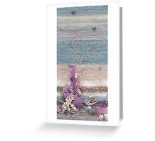 Organic - Blue Tones Greeting Card