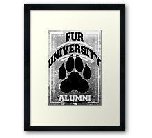 FUR UNIVERSITY -black- Framed Print