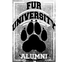 FUR UNIVERSITY -black- Photographic Print