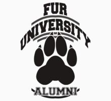 FUR UNIVERSITY -black- by 8Bit-Paws