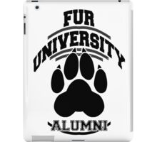 FUR UNIVERSITY -black- iPad Case/Skin