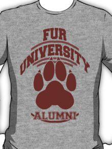 FUR UNIVERSITY -red- T-Shirt