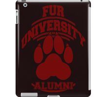FUR UNIVERSITY -red- iPad Case/Skin