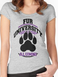 FUR UNIVERSITY -purple- Women's Fitted Scoop T-Shirt