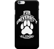 FUR UNIVERSITY -white- iPhone Case/Skin