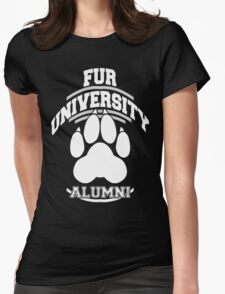 FUR UNIVERSITY -white- Womens Fitted T-Shirt