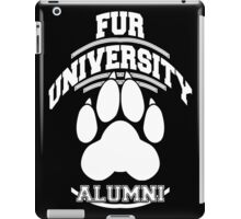 FUR UNIVERSITY -white- iPad Case/Skin