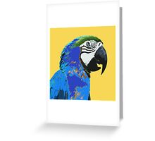 7 DAYS OF SUMMER- YELLOW PARROT LOVE Greeting Card