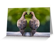 Dove birds, an image of two Mourning Doves Greeting Card