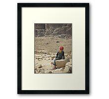 Young Bedouin Girl - Petra, Jordan Framed Print