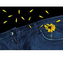 """Blue Jeans and Calendula"" Photographic Print"