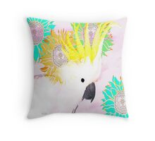 7 DAYS OF SUMMER /SUMMER COLLECTION-PINK MAJOR MITCHELL COCKATOO Throw Pillow