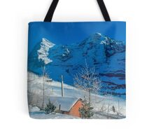 Eiger Winter Scene Tote Bag