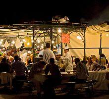 Food Stalls of Jemaa El Fna by Neil Clarke