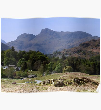 Langdale Pikes From Elterwater Poster