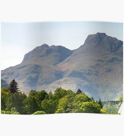 Langdale Pikes From Elterwater 2 Poster