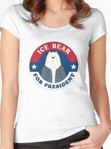ICE BEAR FOR PRESIDENT. Women's Fitted Scoop T-Shirt