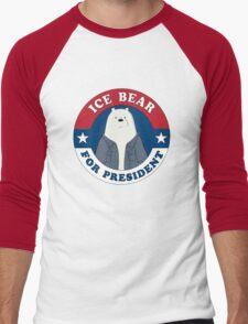 ICE BEAR FOR PRESIDENT. Men's Baseball ¾ T-Shirt
