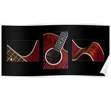 Guitar Triptych Poster