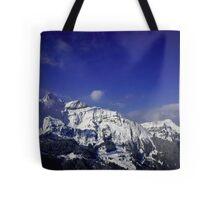 Shilthorn Winter Scene Tote Bag