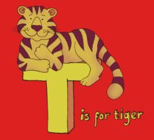 T is for Tiger One Piece - Short Sleeve