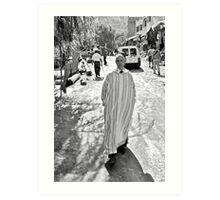Street portrait taken in Ourika Art Print
