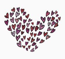 hearts on hearts in hearts Kids Tee