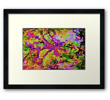 Abstract Flower Screen Print Framed Print
