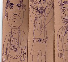men in shorts by Stacey Lazarus