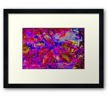 Abstract Flower Screen Print 2 Framed Print