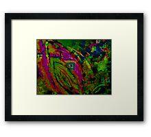 Absract Leaf Screen Print Framed Print