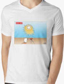 Rock God Mens V-Neck T-Shirt