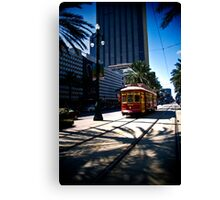 Trolley on Canal Street, New Orleans Canvas Print