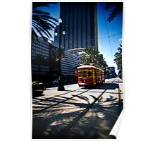Trolley on Canal Street, New Orleans Poster