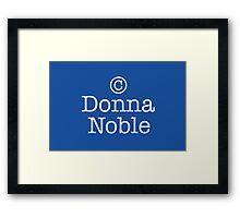 Copyright Donna Noble - Tardis Blue Framed Print