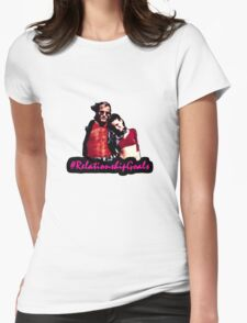 Mickey & Mallory Knox #RelationshipGoals Womens Fitted T-Shirt