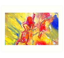 Abstract Snapdragon flower Screen Print Art Print