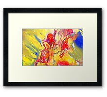 Abstract Snapdragon flower Screen Print Framed Print