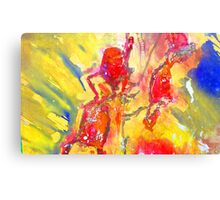 Abstract Snapdragon flower Screen Print Canvas Print