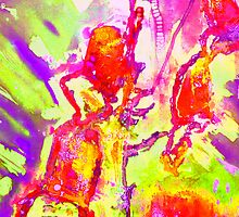 Abstract Snapdragon flower Screen Print 2 by Dempsey