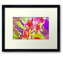 Abstract Snapdragon flower Screen Print 2 Framed Print