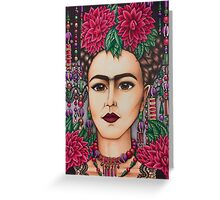 Frida Kahlo with lace Greeting Card